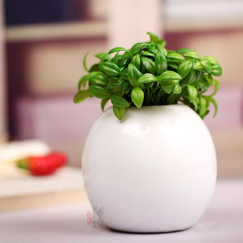 现代时尚花瓶创意摆件简约陶瓷工艺品盆景盆栽圆球花瓶花插