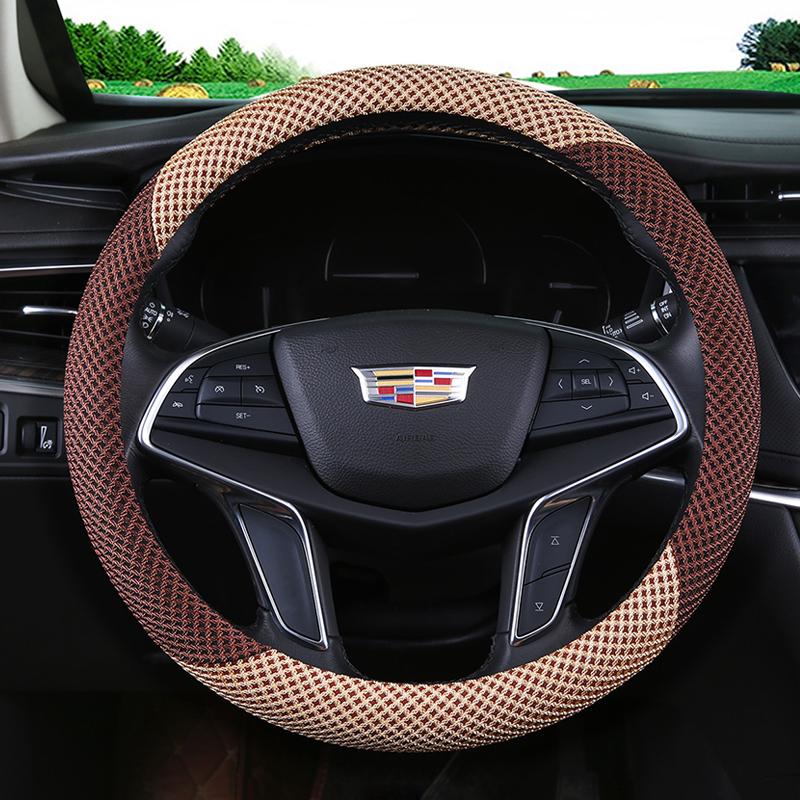汽车把套通用型防滑吸汗亚麻四季方向盘套夏季冰丝女透气大众夏天