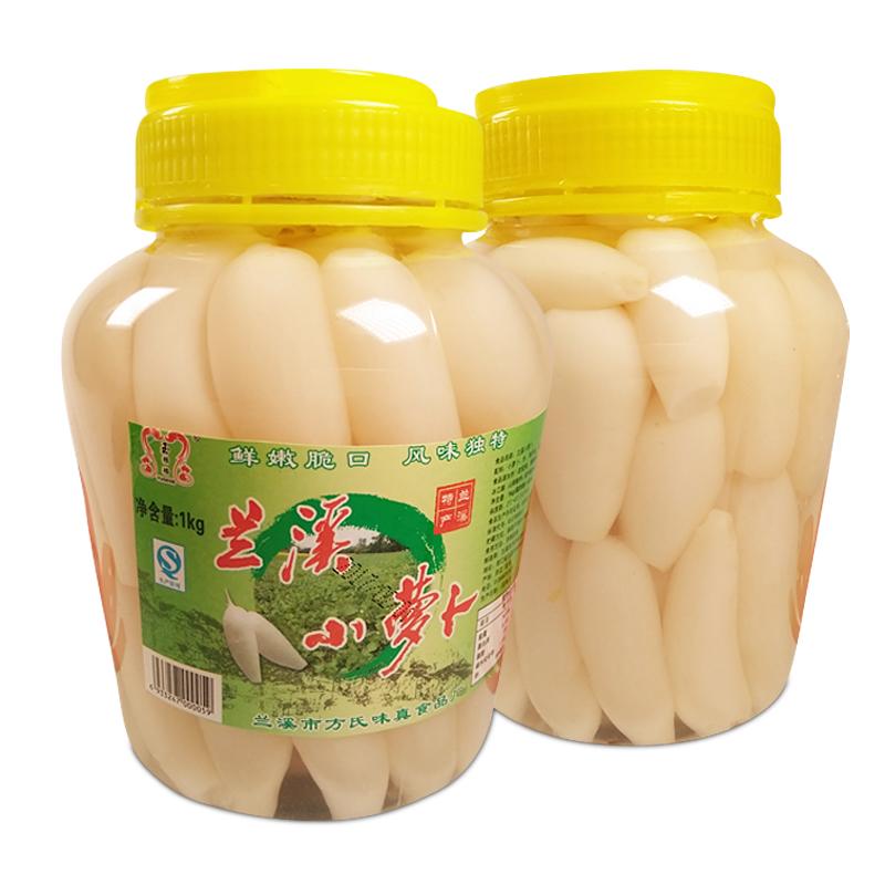 兰溪特产玉格格酸辣泡椒小萝卜1kg1瓶装开胃菜腌制泡菜下饭萝卜干