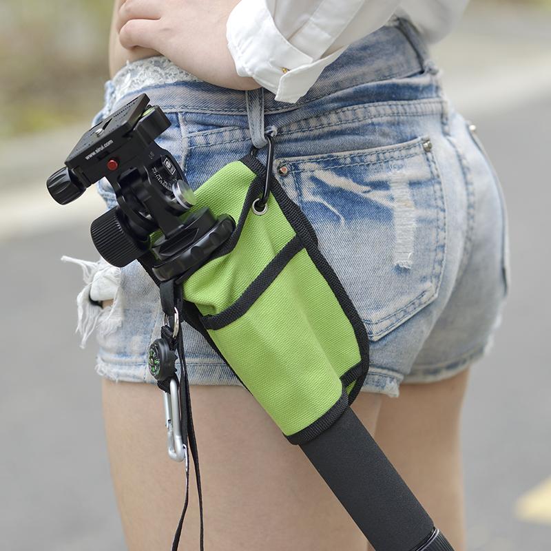 單反相機獨腳架專用腰包登山杖手機雲臺自拍杆手持穩定器便攜掛包