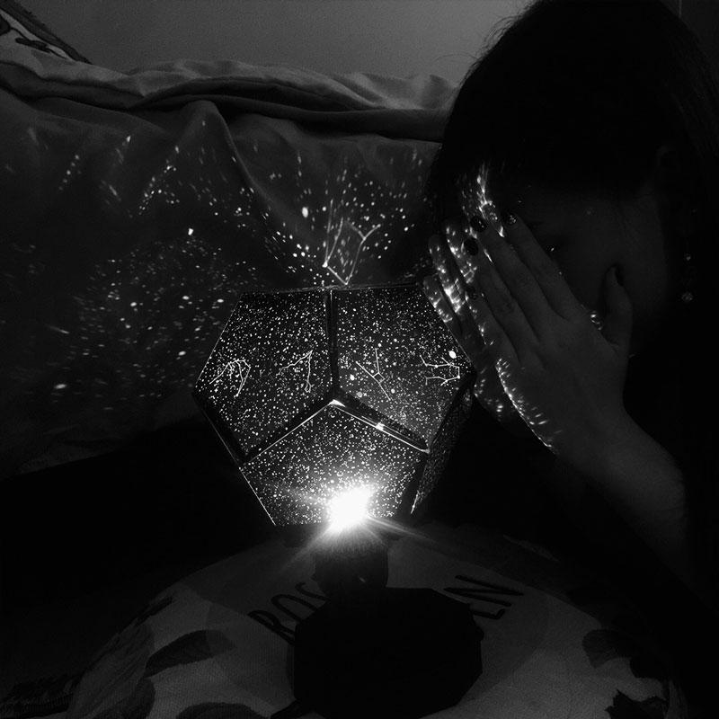 大人科学四季星空投影灯仪安睡灯LED梦幻浪漫旋转情人节生日礼物