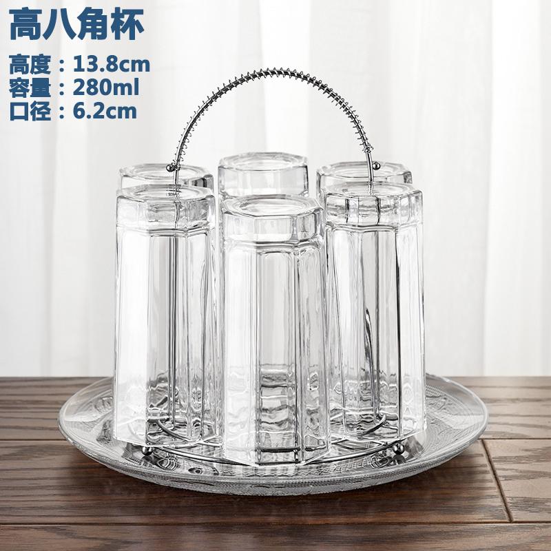 置物架水杯杯架家用倒挂架厨房创意红酒杯架沥水盘玻璃杯套装6只