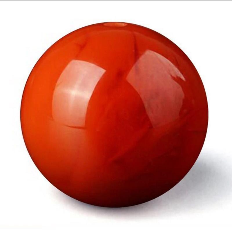 天然保山南红玛瑙圆珠手串手链佛珠 颗满肉散珠火焰红柿子红 108
