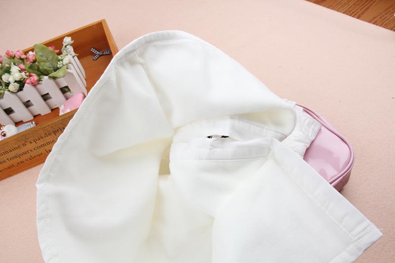 特2019春秋装新品女童装中大童衬衣棉百搭纯棉衬衫立领打底衫