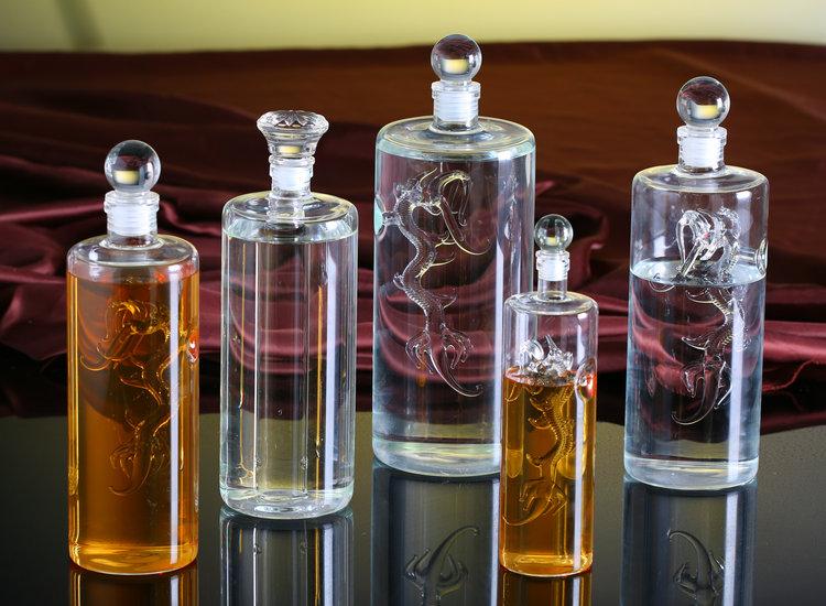 速兴利高硼硅耐热酒瓶龙形酒樽酒瓶创意空酒瓶玛咖虫草酒瓶分装瓶