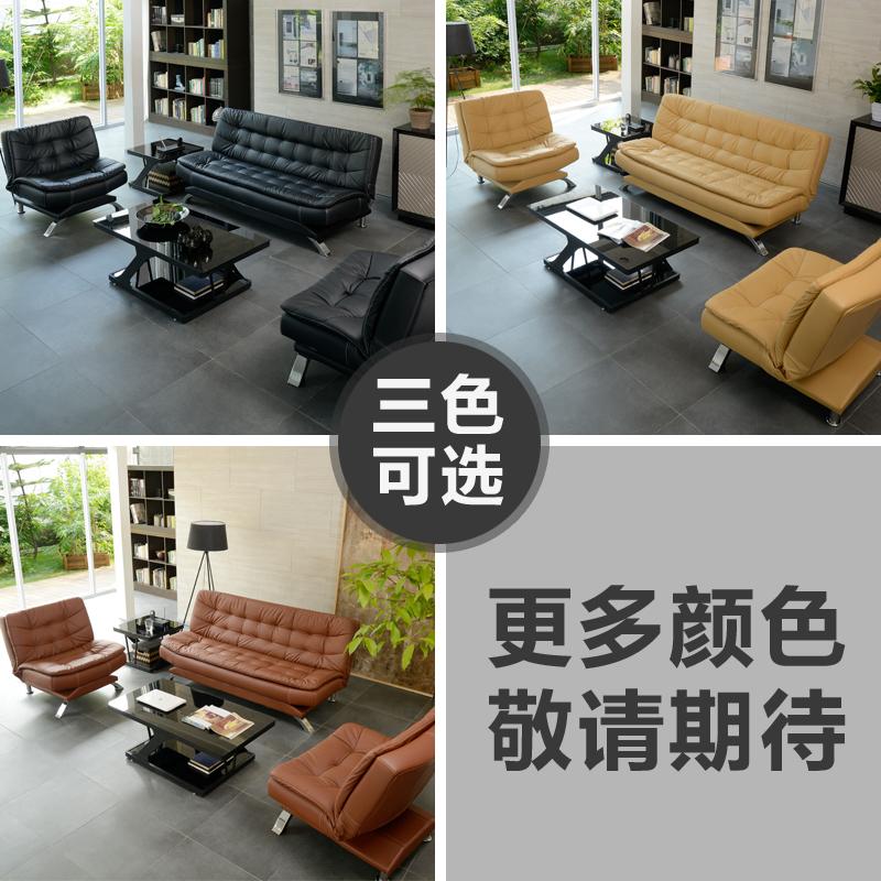 办公沙发床三人位多功能折叠商务办公室沙发简约现代接待会客两用