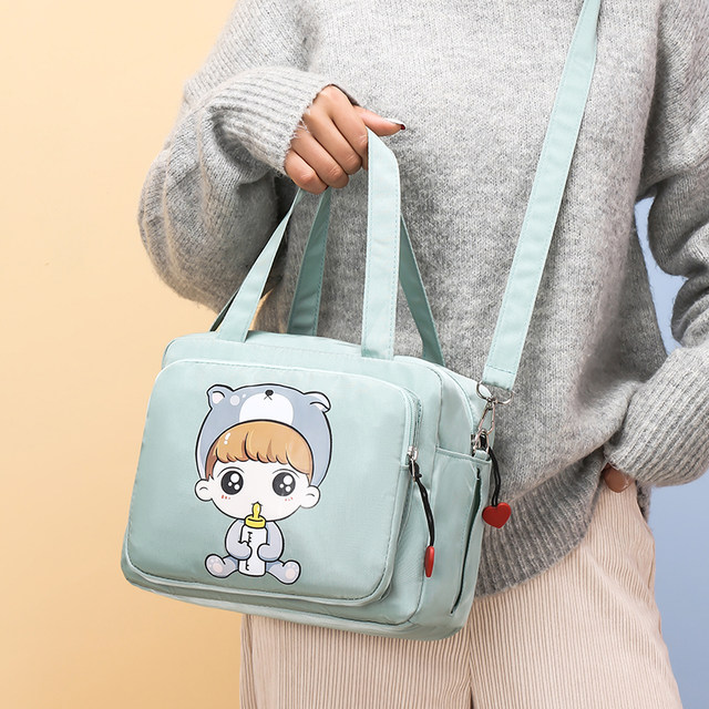 Fashion mommy bag new multifunctional baby mom out new product messenger single shoulder bag lightweight cartoon mother and baby bag