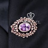 Purple spodumene design brooch pendant dual purpose high jewelry custom processing