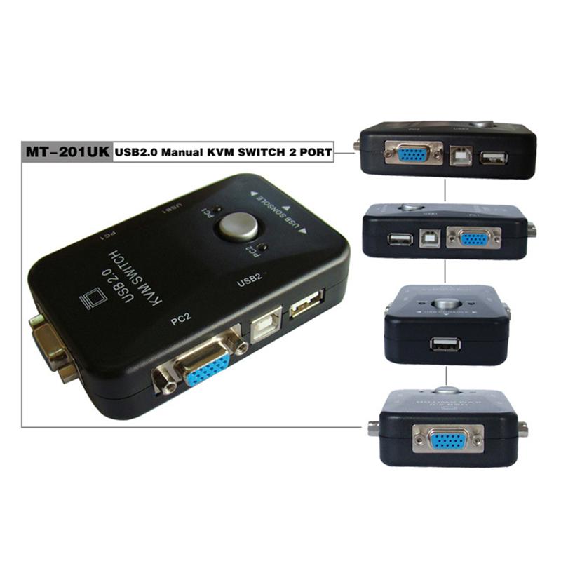 鼠键共享器 vga 出 1 进 2 USB 口手动 2 切换器 KVM 201UK MT 迈拓维矩