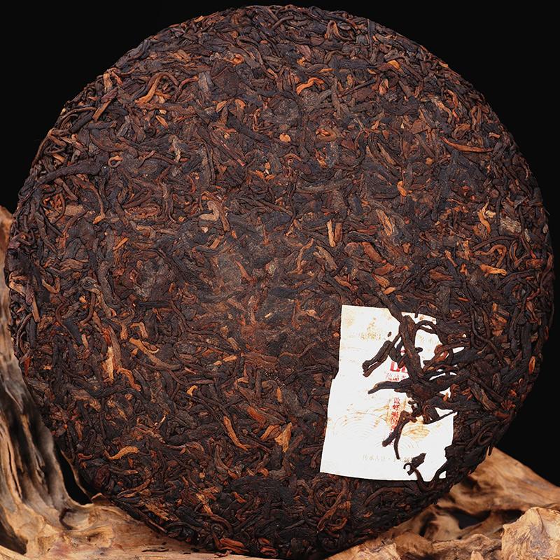 【镇店熟茶】蕴品 2018年论剑-黄药师景迈大树普洱茶熟茶饼茶357g