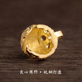 个性创意黄铜铃铛钥匙扣男小挂件女士钥匙链纯铜铃铛汽车钥匙挂件