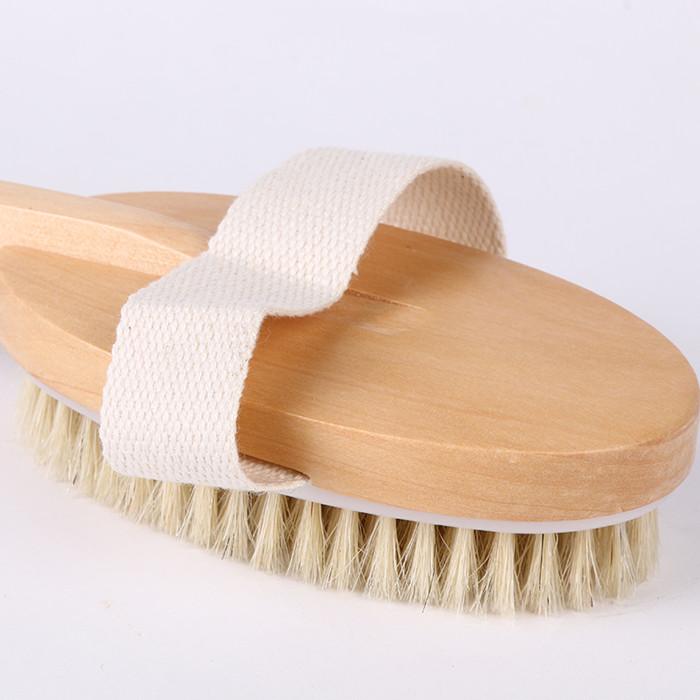 精品木制长柄洗澡刷沐浴刷猪鬃毛搓背搓澡刷软毛洗浴刷子