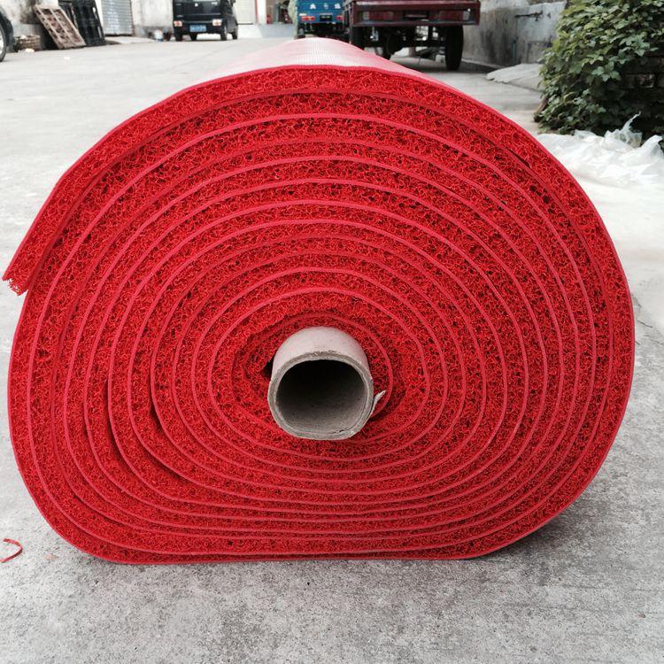 塑膠地毯塑料噴絲地墊3A隨機發門墊酒店迎賓地毯防滑紅可剪裁地墊