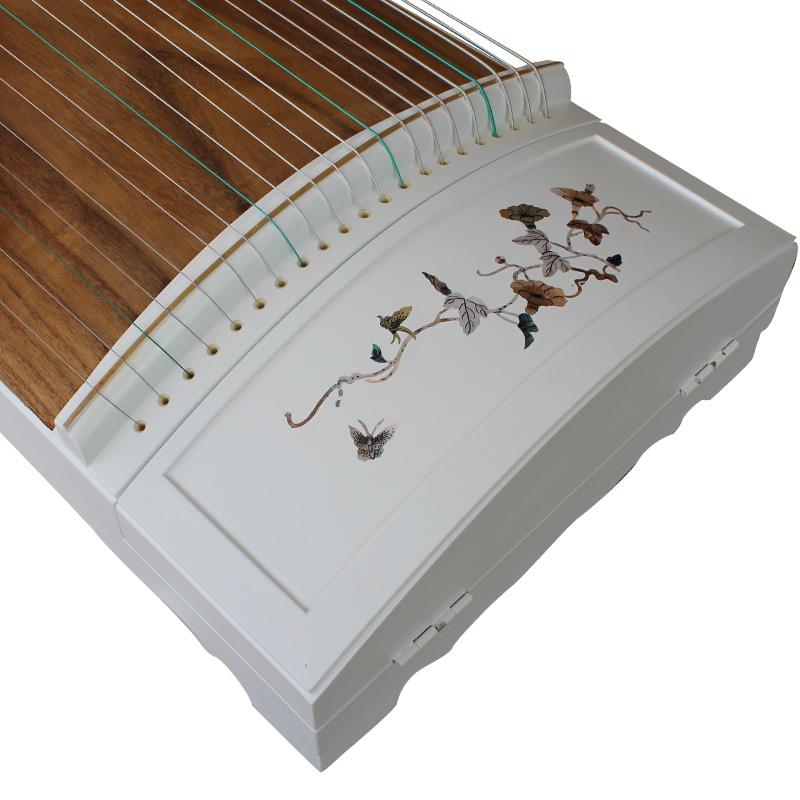 正品扬州乐器 挖嵌白色古筝 高品质红木彩螺琴 仙声古筝