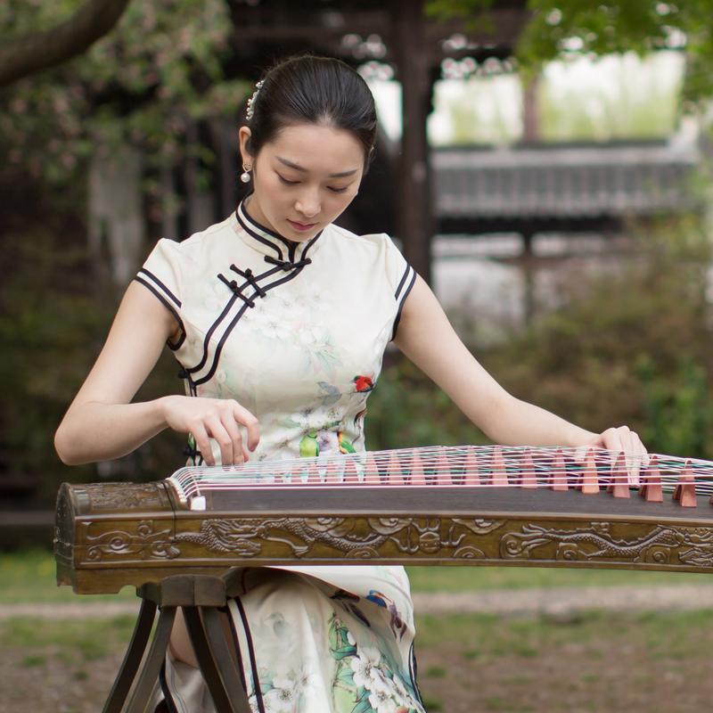 级考级 10 初学者古筝大人精雕九龙楠木实木专业演奏 仙声乐器