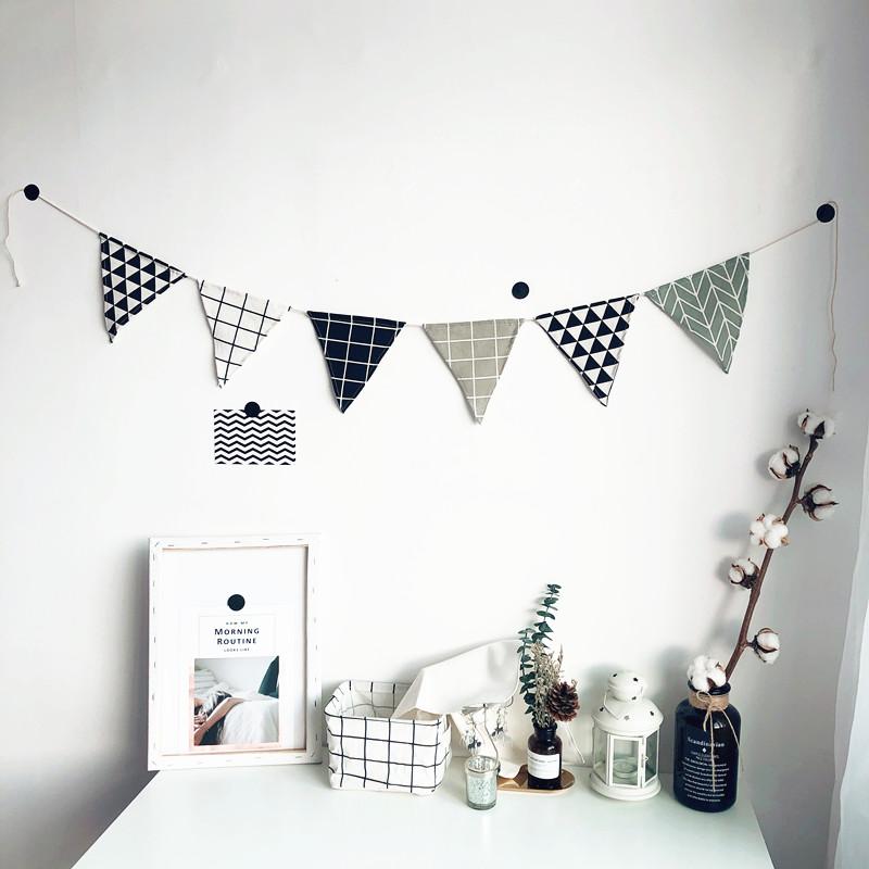 北歐風房間裝飾掛飾臥室宿舍星星串云朵雨滴裝扮墻面裝飾壁飾 ins