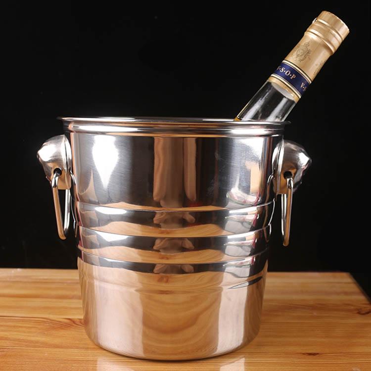 冰桶不锈钢加厚KTV酒吧香槟桶冰块桶大号虎头啤酒冰桶红酒冰桶