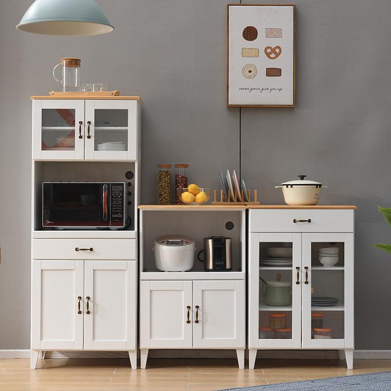 实木餐边柜现代简约厨房柜子储物柜多功能茶水柜橱柜家用简易碗柜