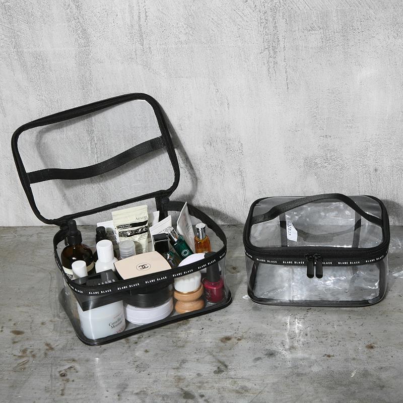 旅行透明化妆包ins风超火女网红便携大容量化妆品护肤品收纳包袋