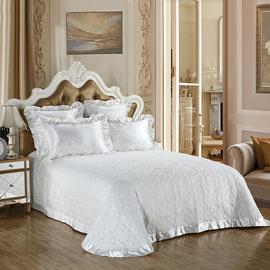 欧式高档床盖三件套加大简约全棉床罩绗缝被夹棉床单绗缝被美式