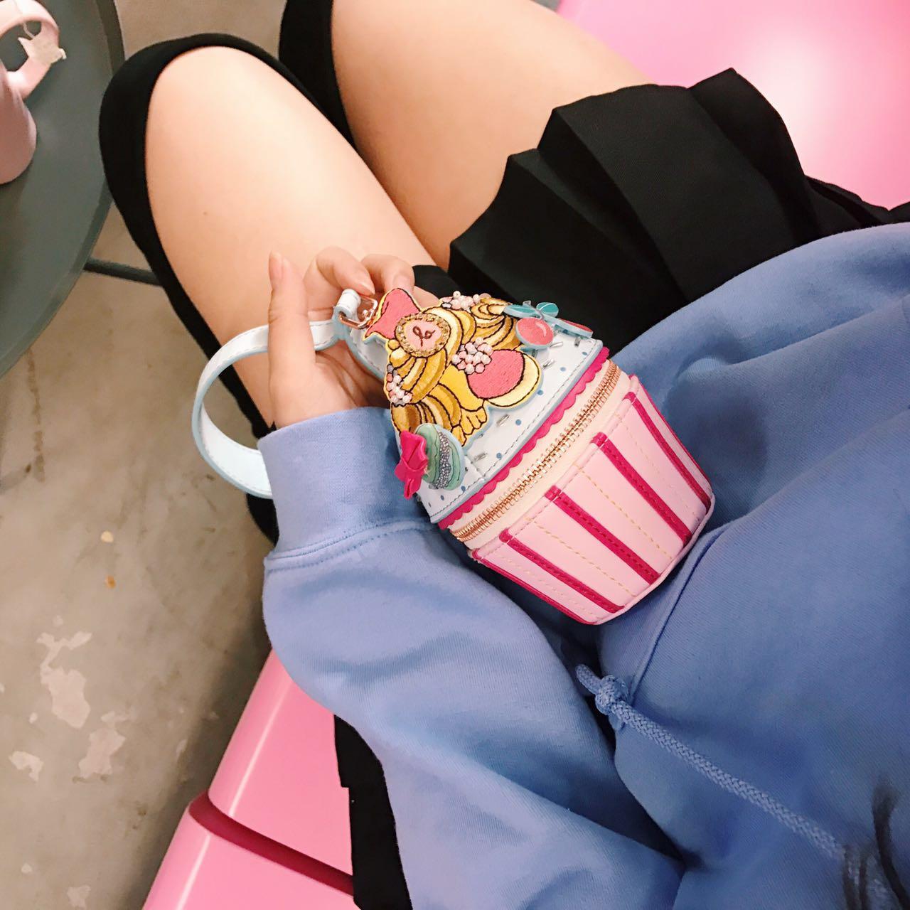 【天天特价】日本代购 超可爱 zakka 糖果蛋糕造型手拎包 零钱包