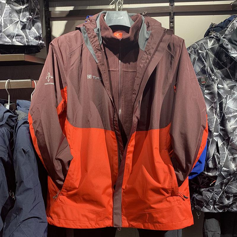 女 92455 KAWE91454 秋冬新款户外套绒冲锋衣两件套男 探路者冲锋衣