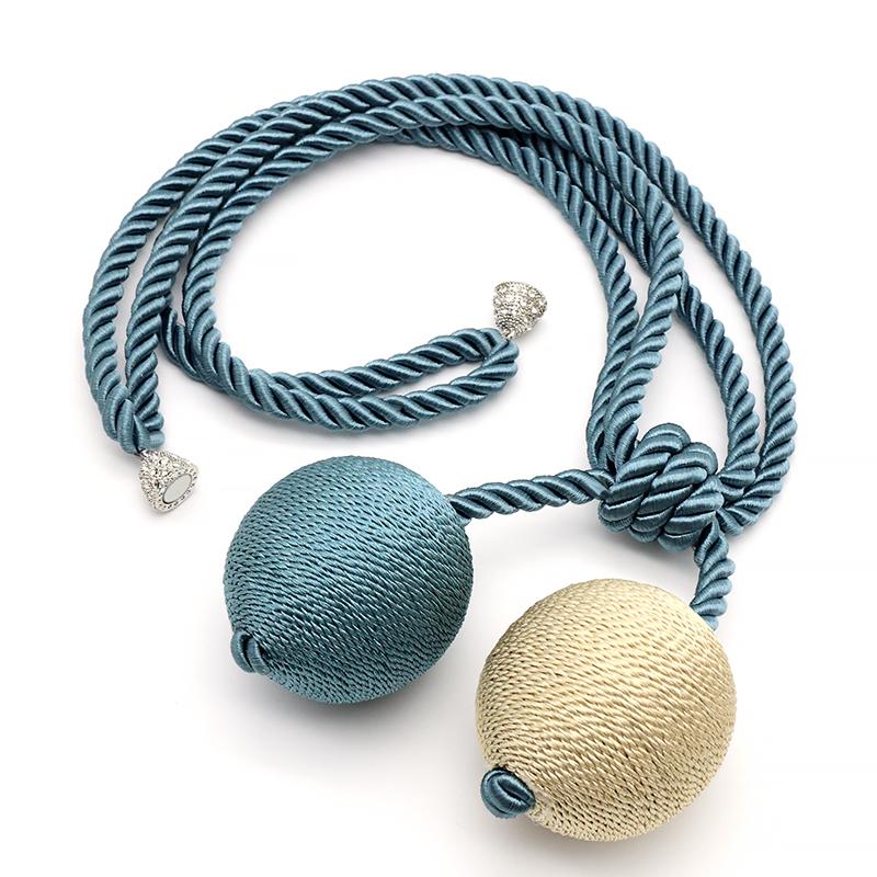 窗帘绳子绑带现代简约窗帘扣绑带创意可爱韩式磁铁免打孔窗帘挂球