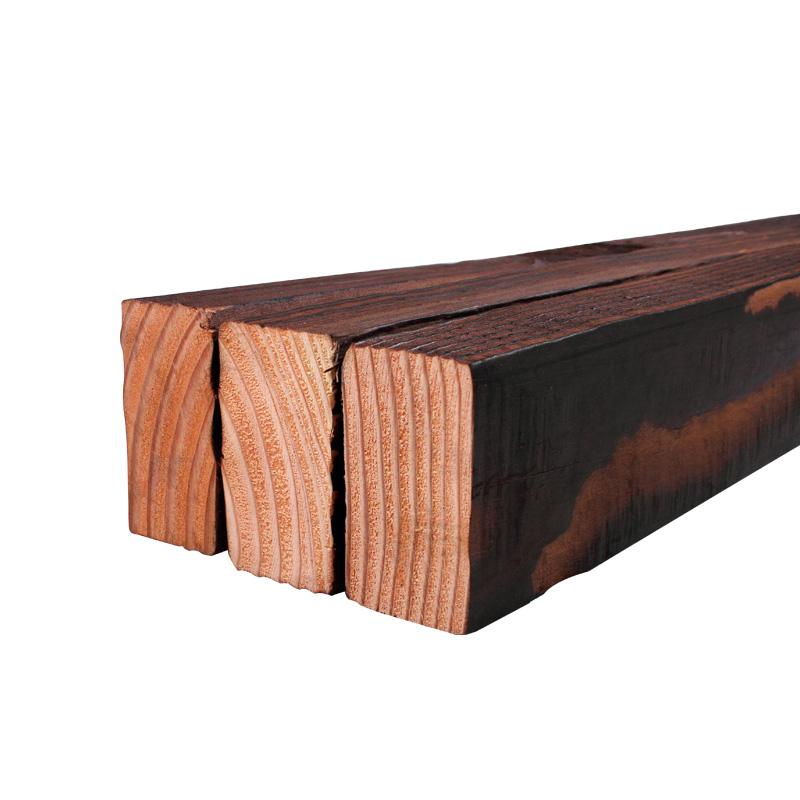 服创 30x50美国花旗松碳化木户外龙骨防腐木方木条 仿古实木板材