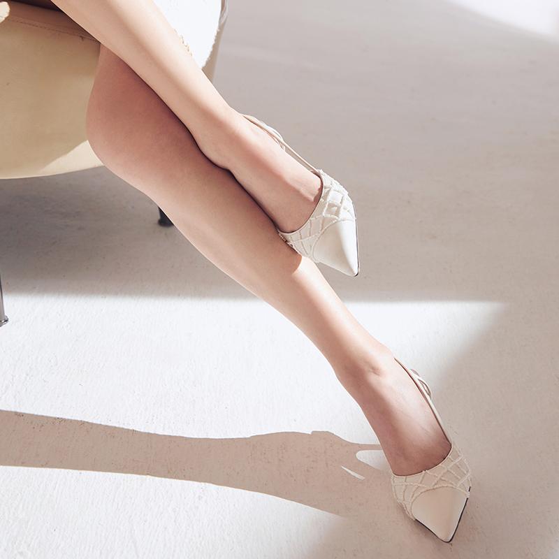 胶囊系列尖头细跟高跟鞋气场女王百搭单鞋凉鞋姓感气质 NANASTORE