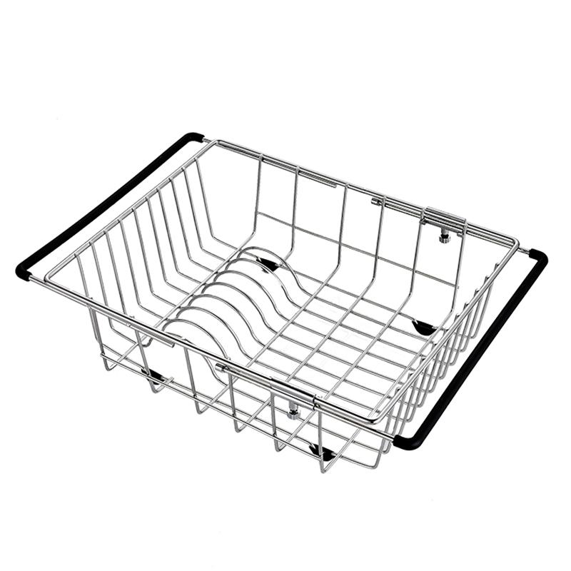 水槽沥水架厨房收纳置物碗架伸缩不锈钢洗菜盆洗碗池放碗筷沥水篮