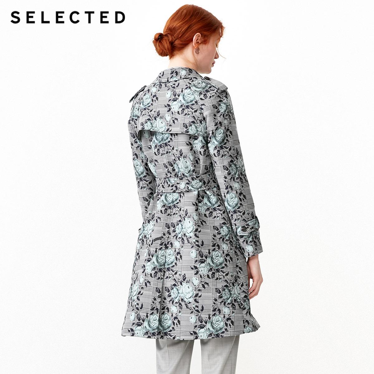 419121502 思莱德新款双排扣中长款风衣外套 SELECTED 折 8.5 件 3