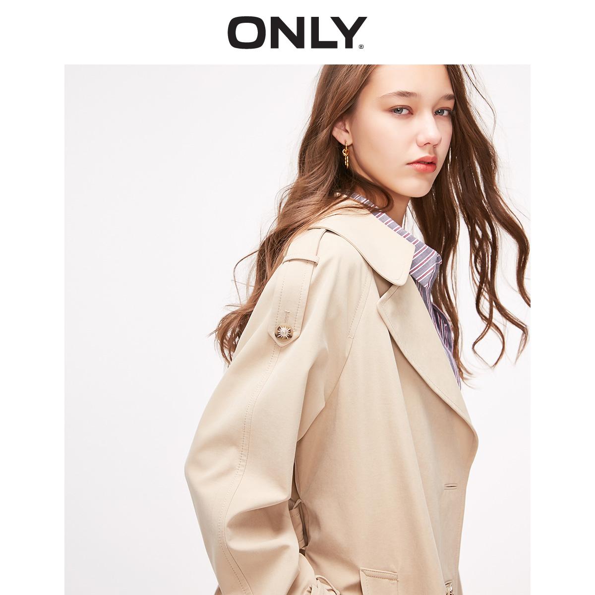 119136502 ONLY  绫致 春夏新款时尚气质英伦洋气薄款长款风衣外套女