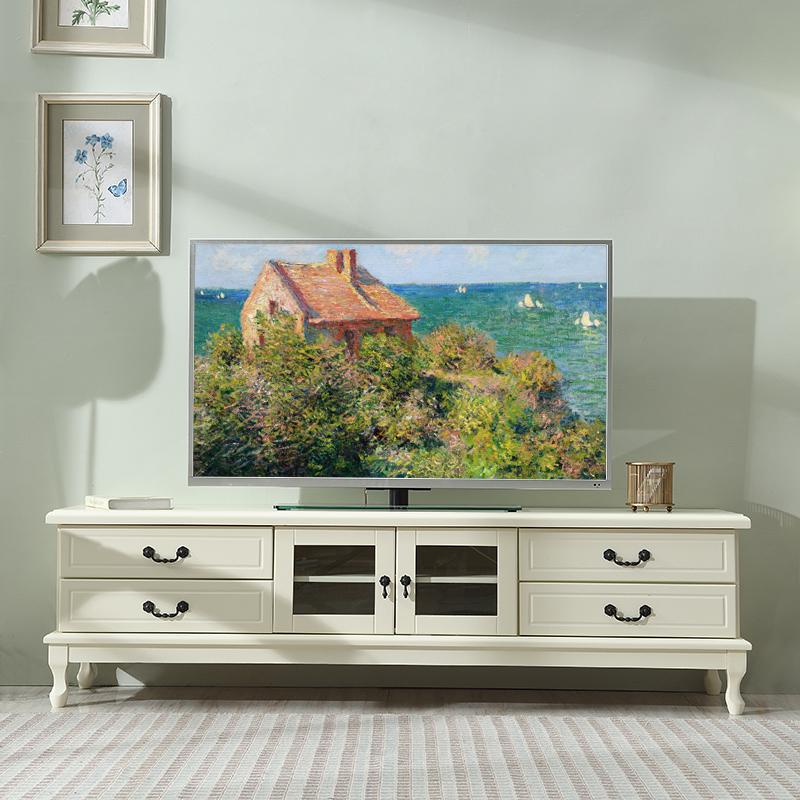 实木电视柜现代简约小户型美式卧室客厅北欧茶几电视机柜组合套装