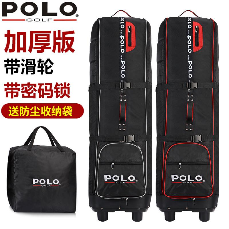 包郵polo高爾夫航空包 飛機託運包 加厚帶滑輪球包 golf旅行包