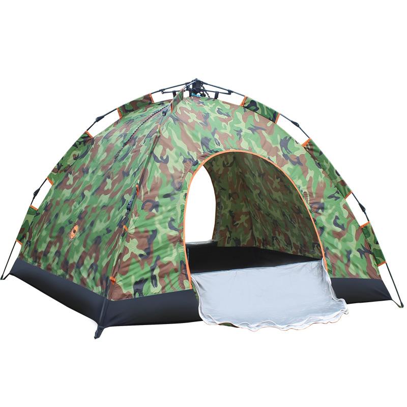 双人迷彩自动帐篷 户外多人露营野营 1-2人单人超轻野外帐篷套餐