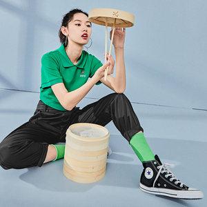 太平鸟工装休闲裤女夏季2019新款韩版薄款黑色运动直筒高腰长裤女