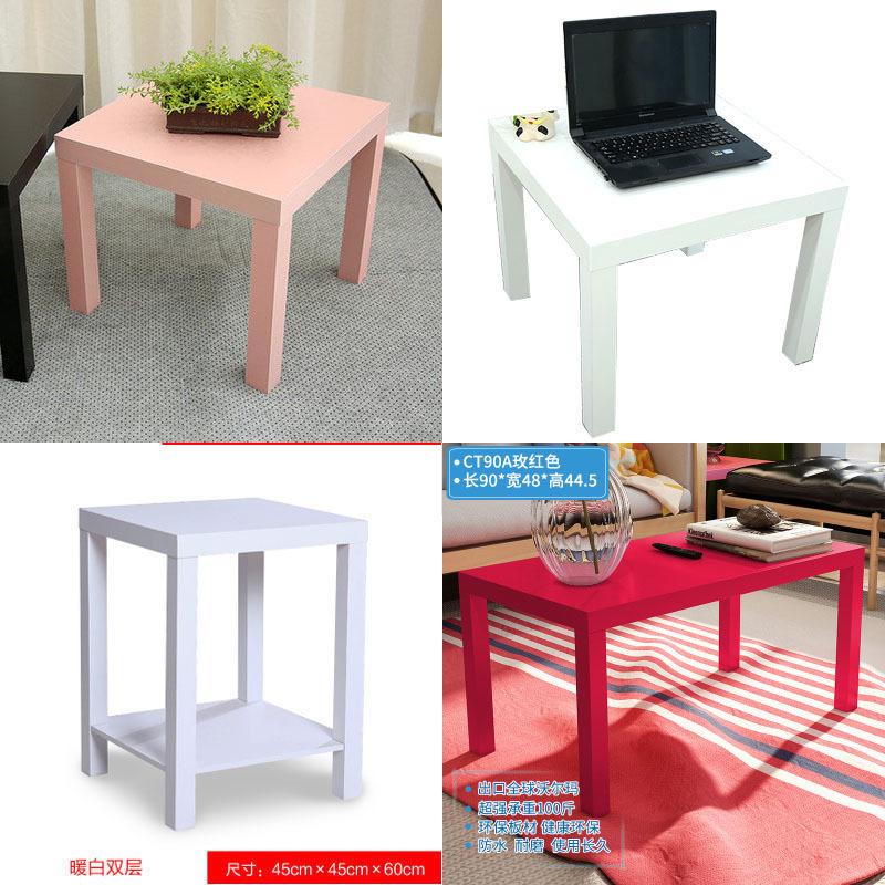 白色床頭桌邊桌現代簡約小方桌沙發邊幾方几簡易家用正方形小桌子