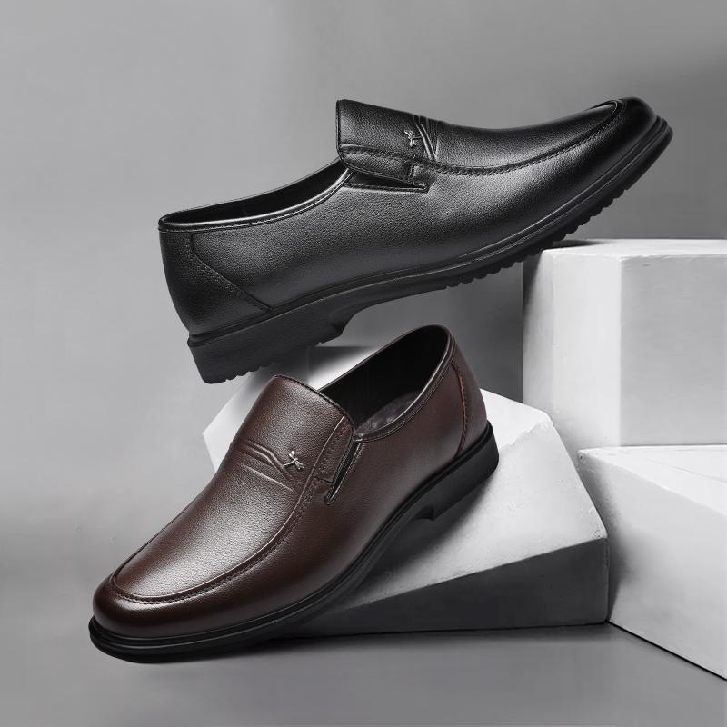【红蜻蜓】男士真皮商务休闲皮鞋