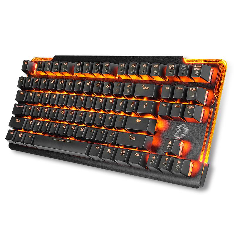达尔优牧马人机械键盘ek815黑青茶红轴有线网红电竞游戏87真104键