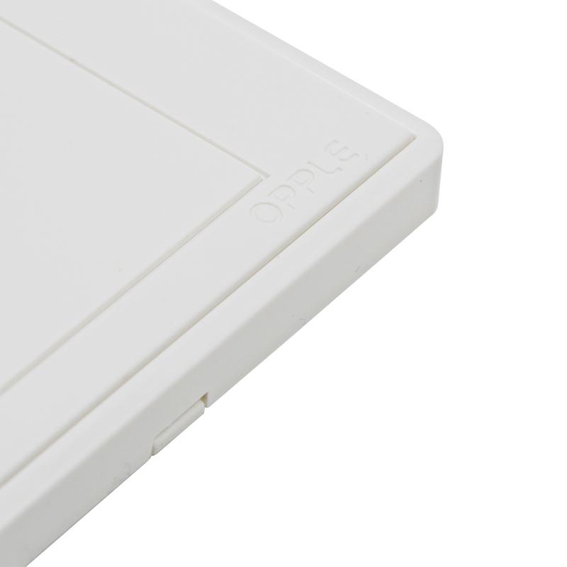 欧普照明 电视插电话插座面板86型白色有线电视插口电话插孔插座G