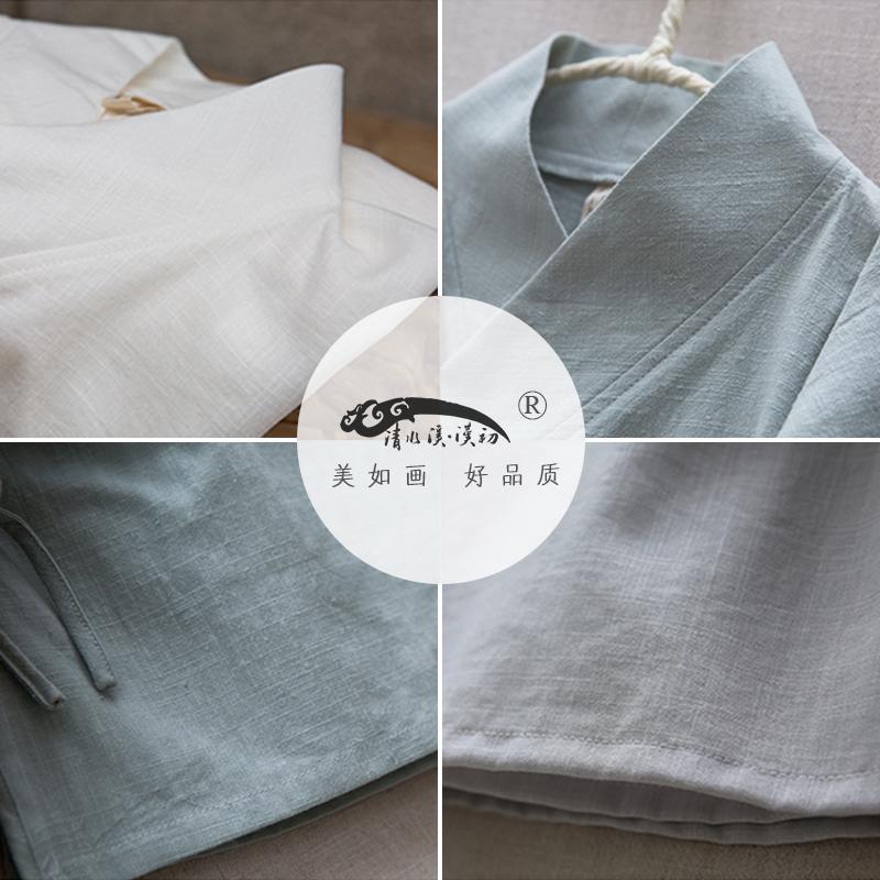 白衣-清水溪原创中国风女装改良汉服交领棉麻2017春夏款中式上衣