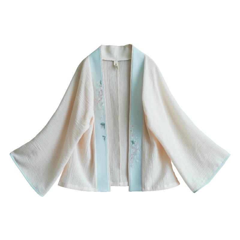 无尽夏 清水溪原创设计 复古女装改良汉服短对襟纯棉刺绣上衣夏