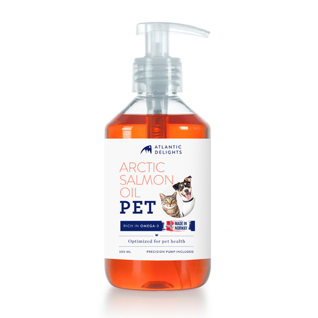 Norwegian Blue Jump Salmon Oil Pet Dogs Cats Non-GMO Nutrition Skin Care Health Supplement 300ml