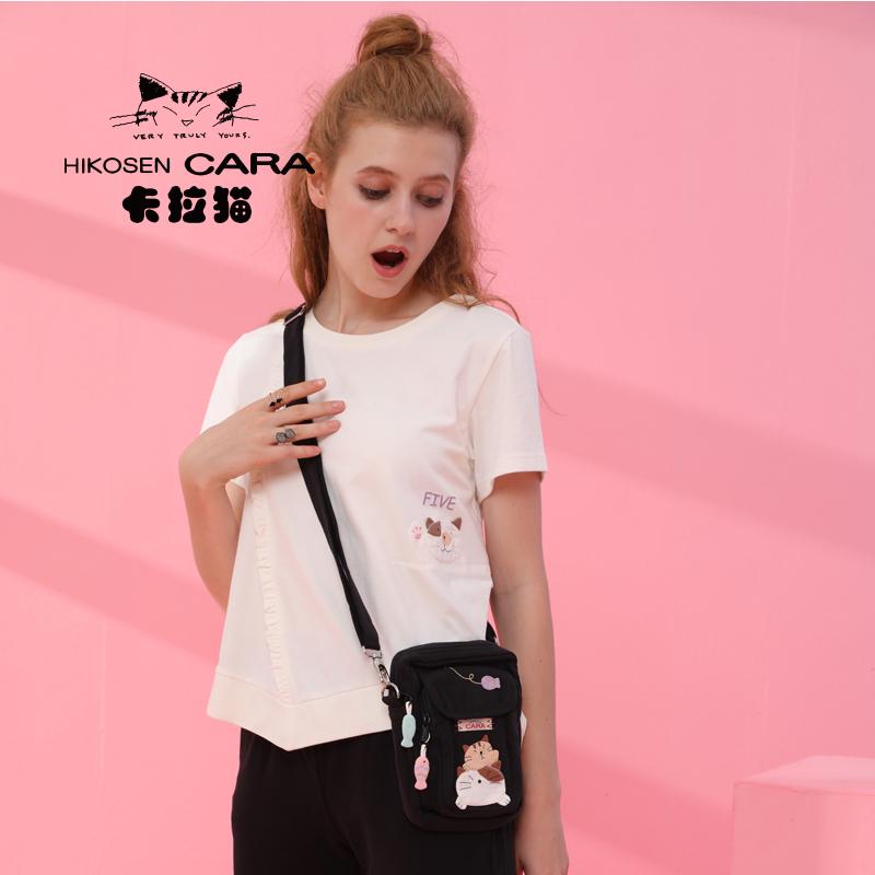 日本卡拉貓 新品原創可愛品牌女包iPhone8P手機袋斜挎包迷你小包