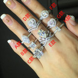 Customized Mossex Stone Rings For Women And Men's Platinum And Platinum Diamonds Pendants Bare Pear Shaped Heart-shaped Gemstones