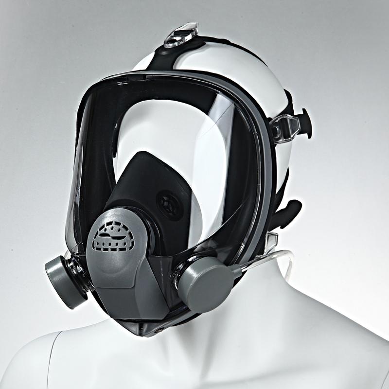 以勒输气供气式防毒面具防护口罩喷漆专用喷砂全面罩自配空压机式