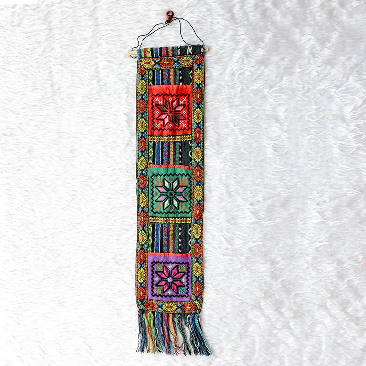 广西少数民族刺绣壁挂 手信袋壮锦创意家居酒吧装饰收纳挂件