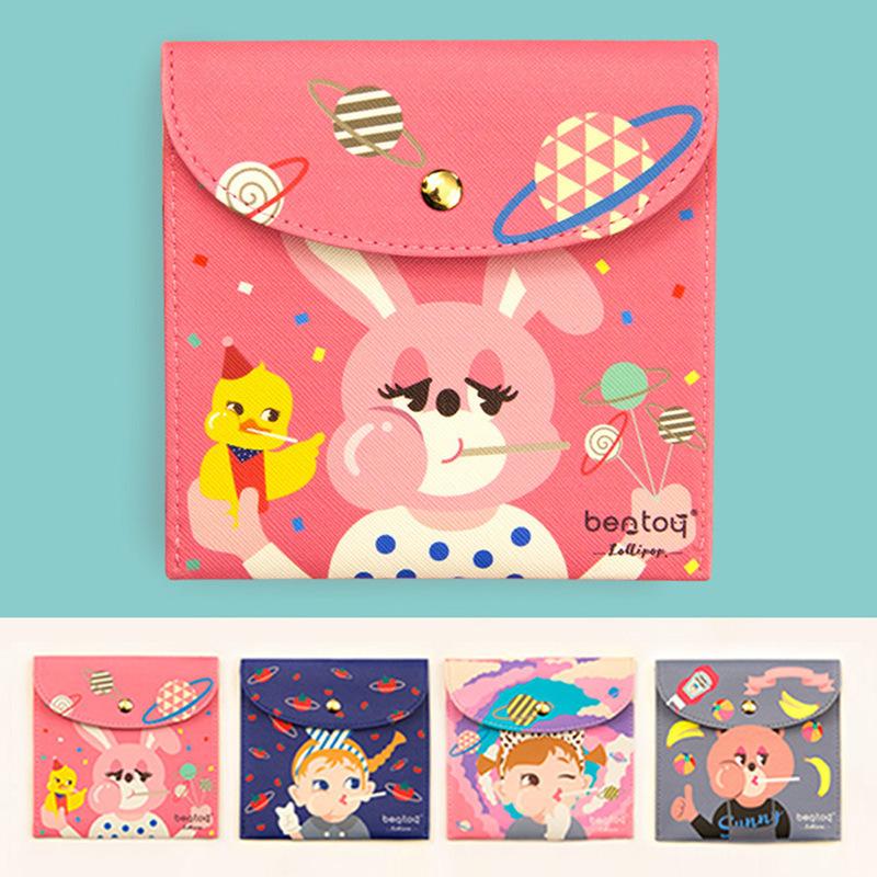 韓國 卡通版可愛棒棒糖女孩衛生棉袋子.衛生巾包包.姨媽巾收納包