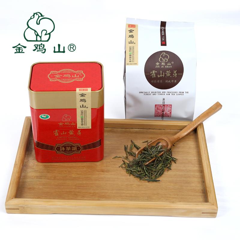 铁罐包装 金鸡山原产 75g 金品黄芽 新茶 2018 霍山黄芽