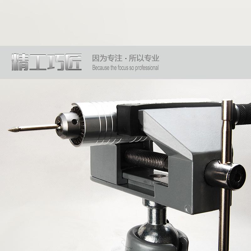 美耐特小型台虎钳360度万向台虎钳铝合金固定钳支架桌虎钳
